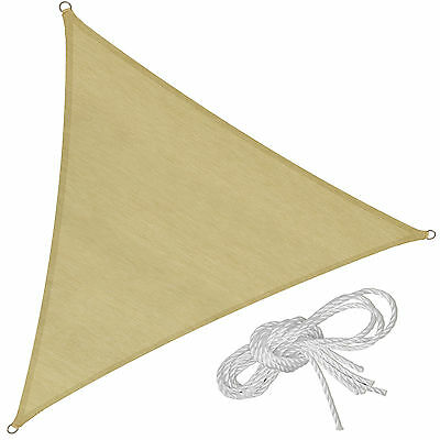 Voile d'ombrage triangle protection UV solaire toile tendue parasol 4x4x4m