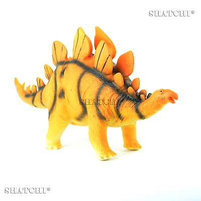 LARGE Soft Foam Rubber Stuffed STEGOSAURUS Dinosaur Toy Action Figures and Sound