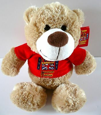 15cm Teddy Bear Queen's Diamond Jubilee with Red Jumper