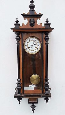 Antique Junghans German Pendulum Wall Clock With Gong Chime