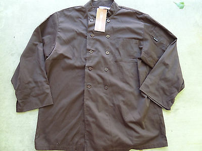 Nwt Chef Works Ccba Chocolate Basic Chef Coat 2Xl Xxl