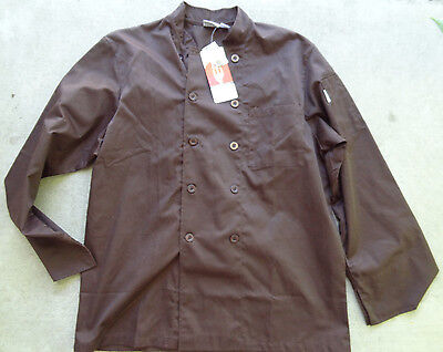 Nwt Chef Works Ccba Chocolate Basic Chef Coat L