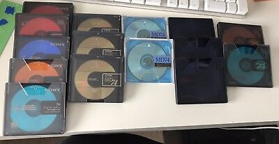 15 Recordable MiniDisc - With Case And Labels - Reusable