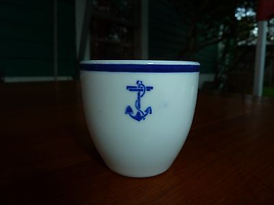 Mayer China US Naval Ward Room Officers Mess Demitasse Cup WWII Restaurant Ware