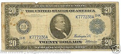 $20 1914 DALLAS FR-1004 Burke-McAdoo- Low serial number