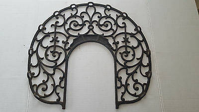 Antique Rare Cast Iron Ornate Pot Belly Stove Pipe Warming Grate
