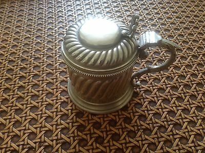 Walker and Hall silver plated  mustard pot late 1800's