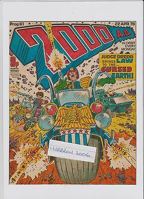 2000AD Judge Dredd Cover Up-Cycled Laminated Original 1978 Comic Page.