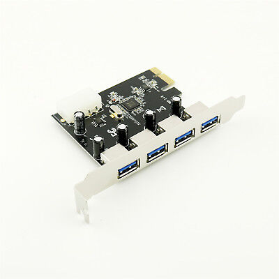 1x PCI-E PCI Express to 4 Port High Speed USB 3.0 Hub Controller Card Adapter