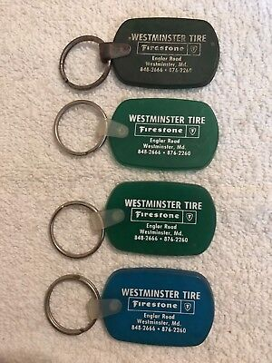 Vintage Firestone Westminster Tire Advertising Keychain Lot