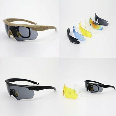 Sporting Military Tactical Ballistic Shooting Protection Glasses Goggles Sets