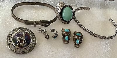 Na Mexico Sterling Silver Lot Some Signed All Wear No Scrap Nice