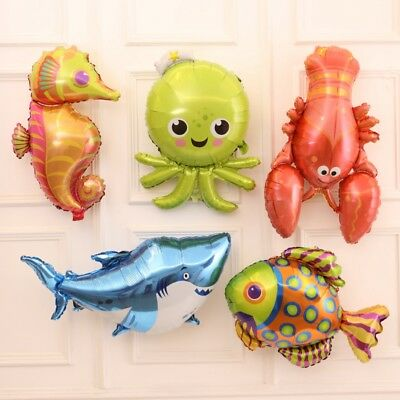 Sea Bed Themed Dory Nemo Clownfish Tropical Fish Cluster Shark Foil Balloons Par