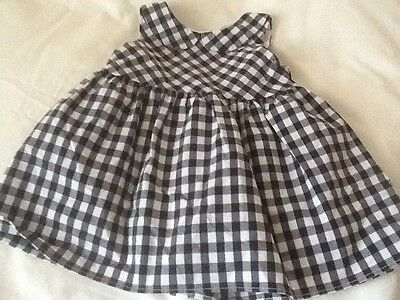 Next Baby Age Up To 3 Months Blue/ White Checked Dress
