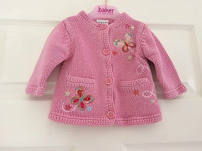 Baby Girls Pink Cardigan from NEXT 3-6 Months