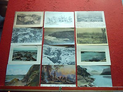 15 Old Postcards New Zealand and Australia