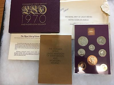 1970 Great Britain & Northern Ireland _Coinage_ 8 Piece Proof Set