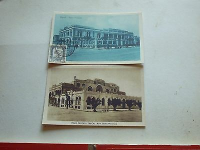 2 Old Postcards Tripoli Libya 1 good stamp