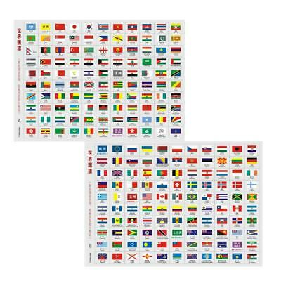 All World 193 countries flag stickers-travel/coin/stamp-Single flag size 2*2.5cm