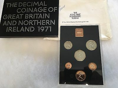 1971 Coinage Of Great Britain And Northern Ireland_ 6 Coin Proof Set