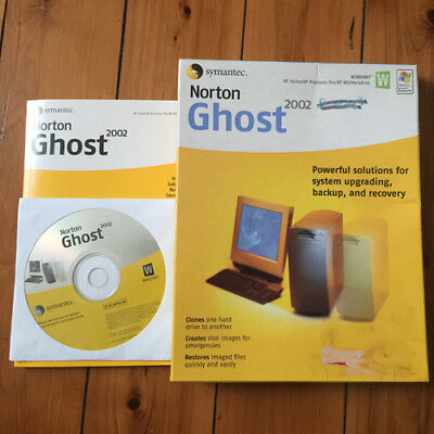 NEW SYMANTEC NG2002 BOX OPENED NORTON GHOST 2002 FAST FLEXIBLE PC CLONING A.o.