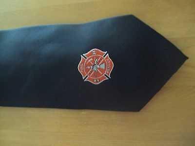 Fire & Rescue Tie ~ Navy Blue ~ 100% Polyester