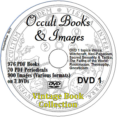 1900+ Occult Books & Images Alchemy Astrology Witchcraft Paganism PDF 3DVDs
