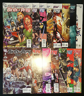 Birds of Prey #1-15 (2010, DC) Complete Set Full Run Oracle 1st App White Canary