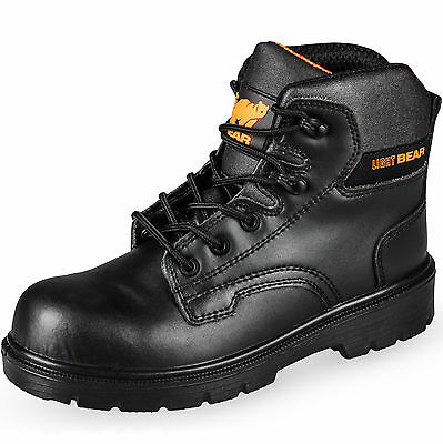 New Mens Safety Boots Lightweight Lace Up Black S3 Work Steel Toe Cap Shoes 5-12
