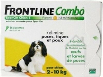Frontline Combo Spot-On S Chien 2-10 Kg 6 Pipettes