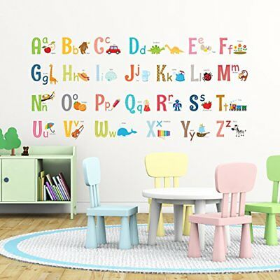Decowall DA-1701 Alphabet peel & stick Nursery wall decals stickers