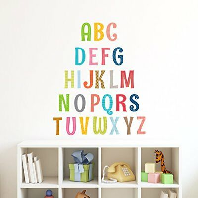 Decowall DA-1701A Uppercase Alphabet Letter Peel and Stick Nursery Wall Decal...
