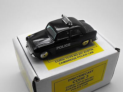 Corgi Toys No.201 Austin Cambridge Saloon Code 3 Police Car By Dinky Diecast