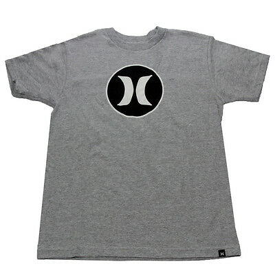 Hurley Youth Block Party Icon T-Shirt Light Grey S