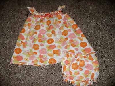 Gymboree Girls Baby Butterfly Flower Dress Set Smocked Size 18-24 months mos