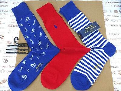 POLO RALPH LAUREN Exquisite Sock 3 pk Novelty SAIL BOATS Cotton Socks BNIP  RP£ 5d1e0a0a69f2