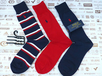 POLO RALPH LAUREN Exquisite Sock Novelty DOUBLE BAR Crew Socks 3p p BNIP  RRP£ 3bb1946ce130