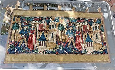 European Tapestry, Antique, Early 1900s