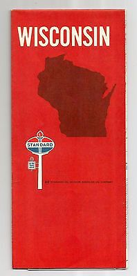 WISCONSIN 1960s COLLECTORS MAP STANDARD OIL COMPANY