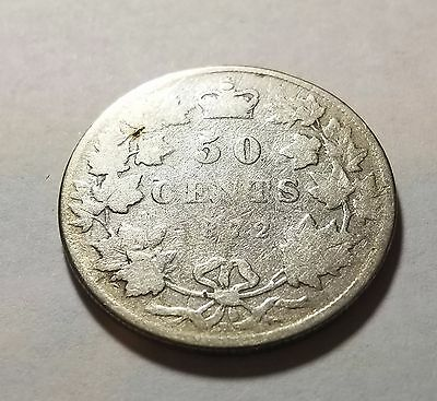 1872 H Canada 50 Fifty Cents
