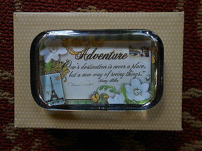 Beautiful Paperweight - Adventure - Gold Foil Embellished