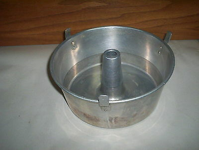 "Aluminum Angel Cake Pan (1 Piece Round) : ( 9 1/2"" Sized) with Cooling Feet Legs"