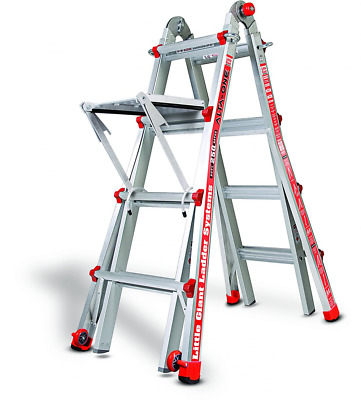 Little Giant Ladder 14013-304 Alta One 17' Ladder with Work Platform (250-lb Wei