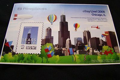 eBay Live Chicago 2008 Sears Tower Stamp 42 cent Commemorative Stamp