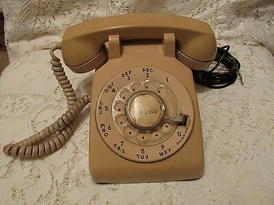 Vintage Beige Bell System Western Electric Rotary Dial Telephone