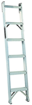 Louisville Ladder AH1007 7-Foot Duty Rating Aluminum Shelf Ladder, 300-Pound