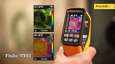 Fluke VT02 Visual IR Infrared Thermometer Temperature Meter Tester + Case
