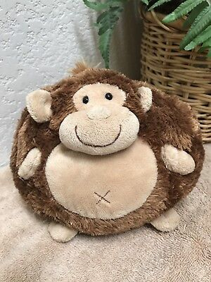 "People Pals Brown Monkey Round 6"" Plush Stuffed Animal Toy EXC"