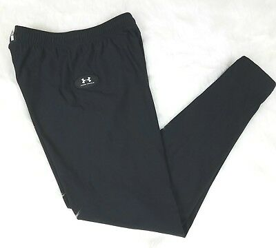 Under Armour Kids Youth Pants Performance Sz L Black Adjustable Waistband Unisex