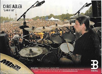 Meinl - Chris Adler of Lamb of God  - 2006 Print Advertisement